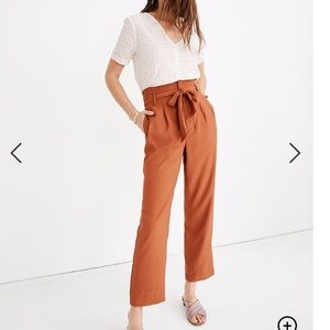 Madewell Drapey Paper Bag Pants